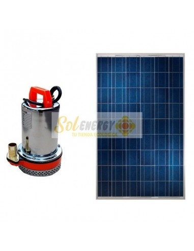 Kit Full Bomba Sumergible con Panel Solar 250w
