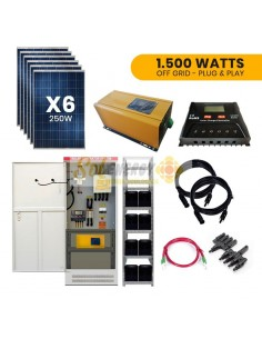 Kit Full Solar 1.500w Plug and Play Off Grid