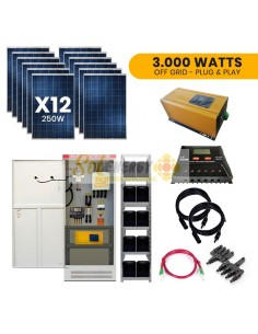 Kit Full Solar 3.000w Plug and Play Off Grid
