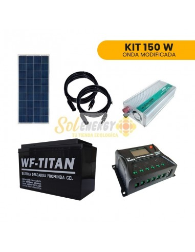 Kit Solar Onda Modificada 150W