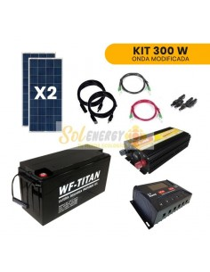 Kit Full Off Grid Energia Solar Hogar 300W Onda Modificada