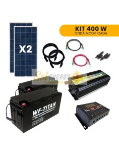 Kit Full Off Grid Energia Solar Hogar 400W Onda Modificada