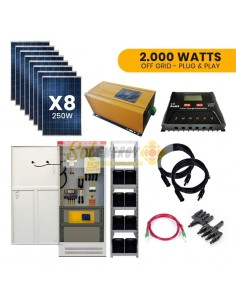 Kit Full Solar 2.000w Plug and Play Off Grid