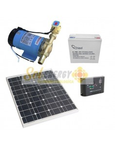 Kit Full Bomba Presurizadora 135w 12v dc con Panel Solar 20w