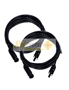 Cable Solar Certificado MC4 4mm2 50ah 12 mts