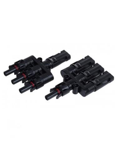 Conectores MC4 Triples