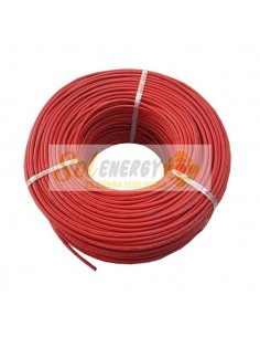 Rollo Cable Solar Certificado 4mm2 50mts Rojo
