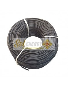 Rollo Cable Solar Certificado 6mm2 50mts Negro