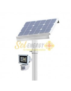 Luminaria Solar Sensor Movimiento 50w Full 6 mts